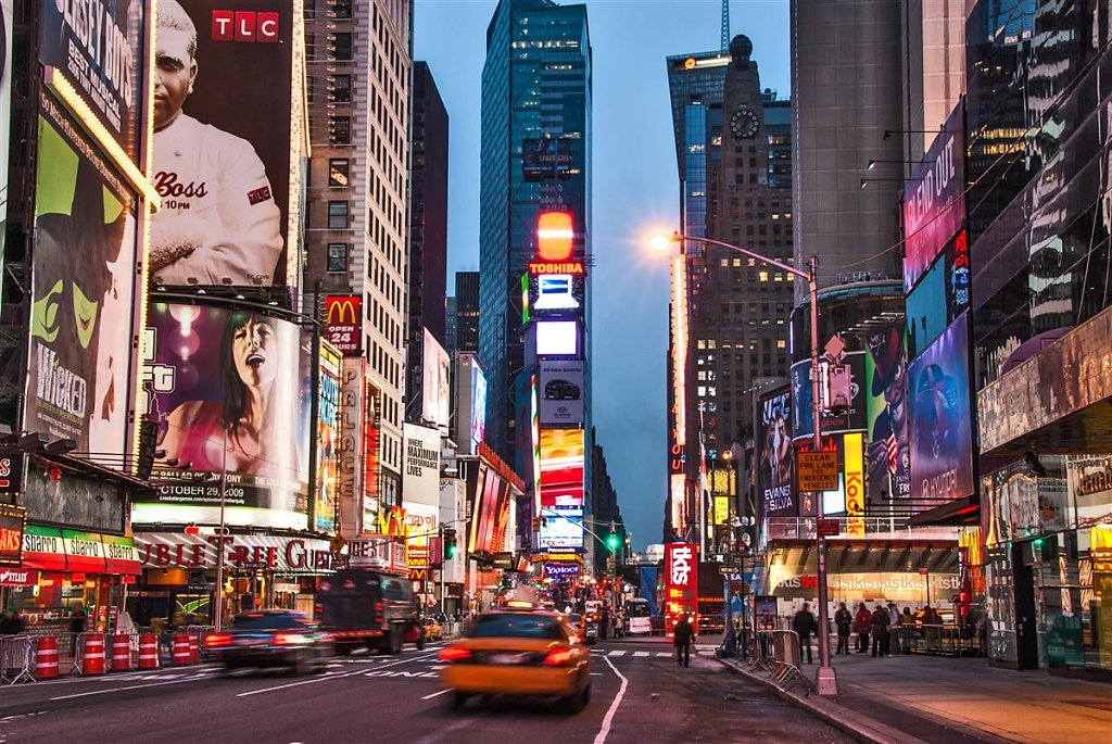 New York - The morning of New Year´s Eve Times Square