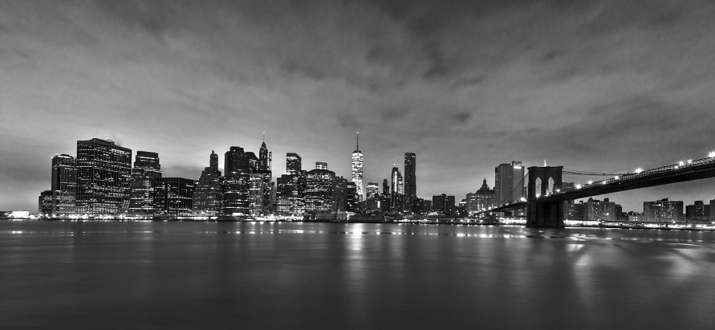 New York - Morning black/white