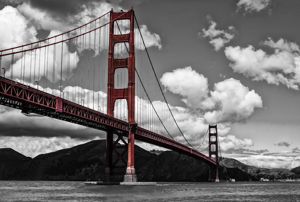 San Francisco - Golden Gate Bridge 1 black/white